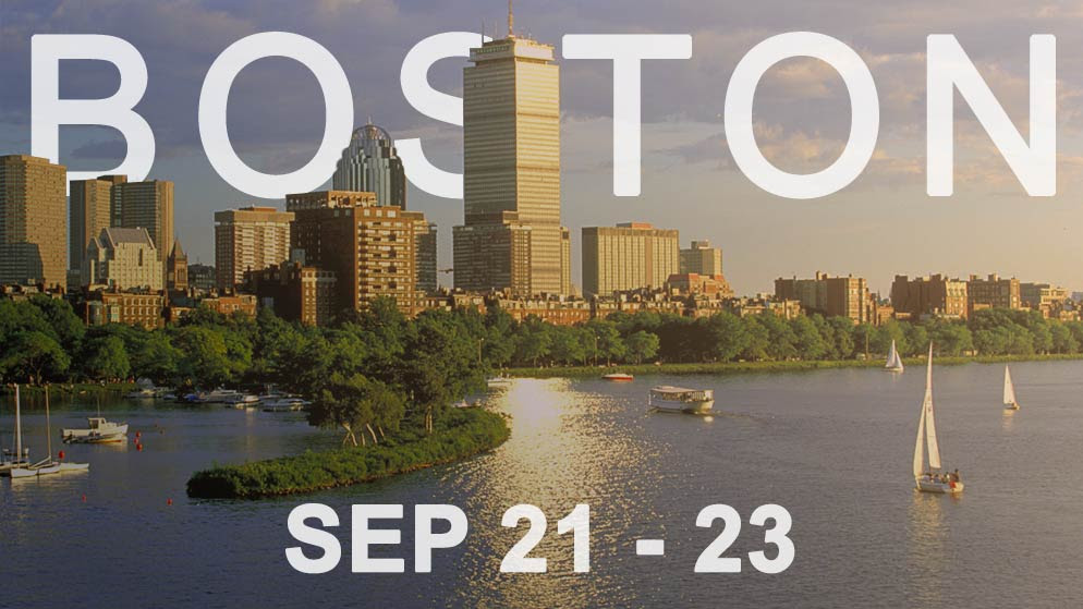 BOSTON: Sep. 21-23