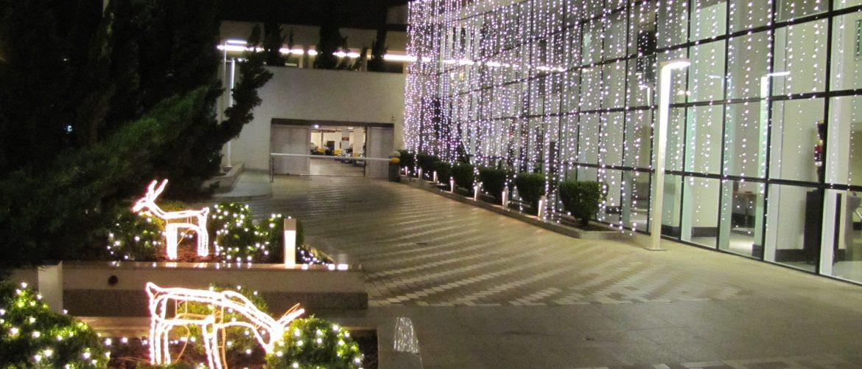 Iluminação natalina em condominios de Águas Claras