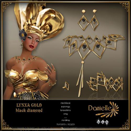 DANIELLE Lynxa Gold ~ Black Diamond