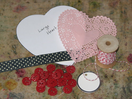Vintage Valentine #2 - Buttons, Bows & Tags 002