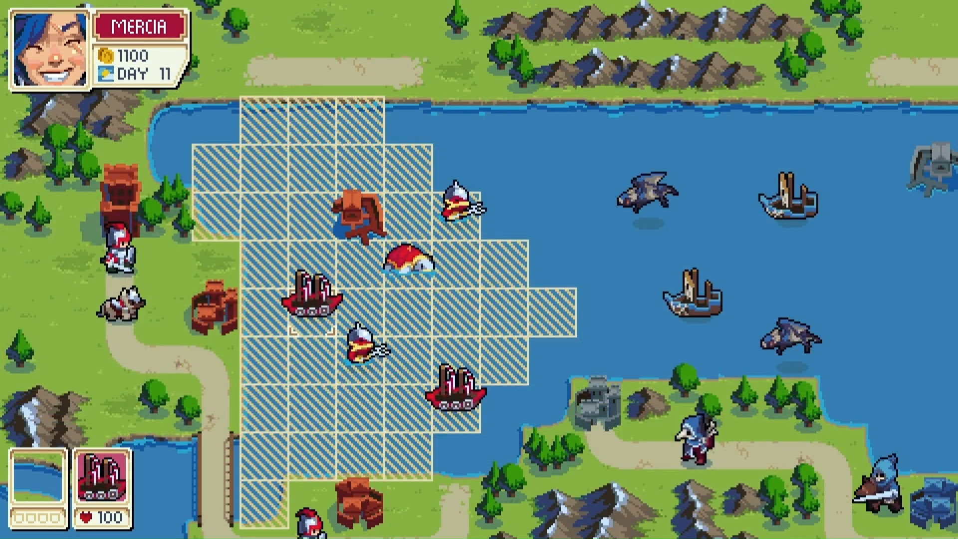Nostalgic RPG Wargroove is coming to PC with a scenario creator screenshot