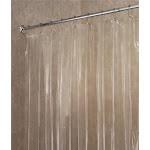 InterDesign 14551 Shower Curtain/Liner, 72 in W X 72 in L X 1/2 in T, Vinyl, Clear