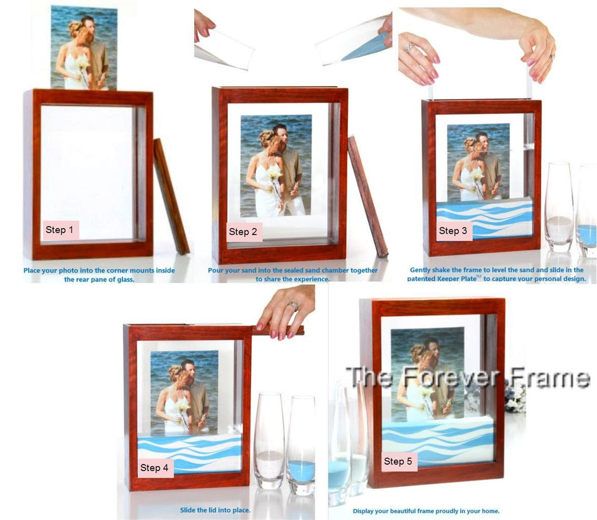 Wedding Unity Sand Ceremony Frame Holds Sand In Place Perfect For Travel