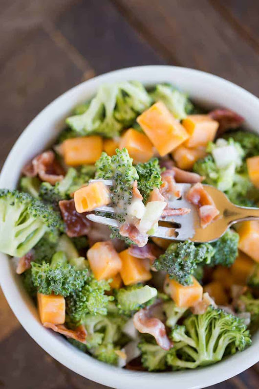 Broccoli Salad Recipe with Bacon - Appetizer Girl