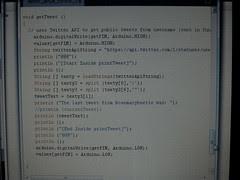 Twitr Janus tweet retrieving script in Processing