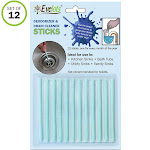 Evelots Drain/Pipe Cleaner Sticks-Deodorizer-Enzymes-No Clogs-Septic Safe-Set/12