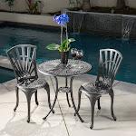 Best Selling Home Decor Florida 3-Piece Outdoor Bistro Set, Black