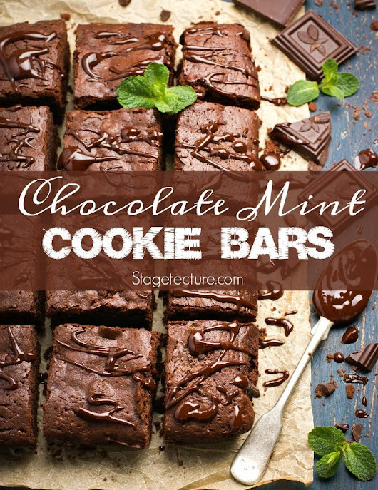 St. Patrick's Day Desserts: Chocolate Mint Cookie Bars