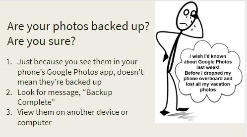 Are your cellphone photos backed up? Are you sure?