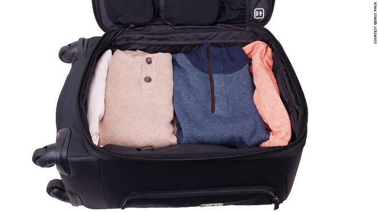 This case stows takes dirty clothes and squeezes them into a tiny space to keep luggage tidy.