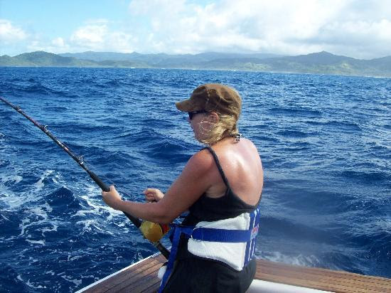 fighting the blue marlin