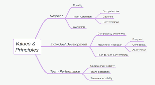 Principles and values for Agile performance management