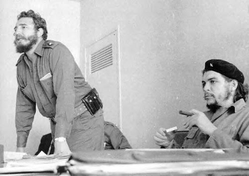 Fidel Castro and Che Guevara during the early days of the Cuban Revolution. The role of the intellectuals in Cuba was a major point of discussion during the early 1960s. by Pan-African News Wire File Photos