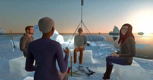 Virtual reality app lets you meet others in imaginary places