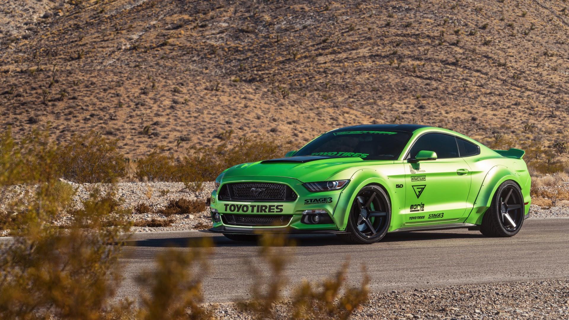 Green Ford Mustang GT Ferrada Wheels 5K Wallpaper  HD Car Wallpapers  ID 7245