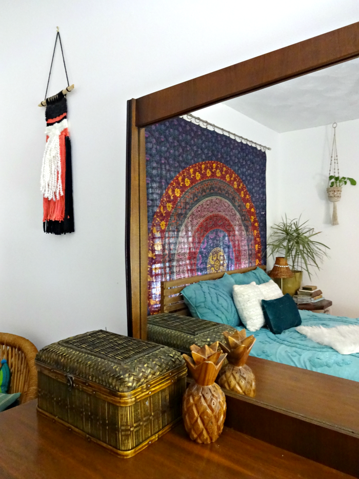 reflection of boho tapestry and bohemian bedding