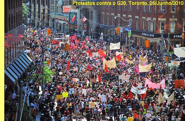 Manifestação contra o G20 em Toronto.