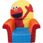 Marshmallow Furniture Comfy Foam Toddler High Back Chair Kid's Furniture, Elmo by VM Express