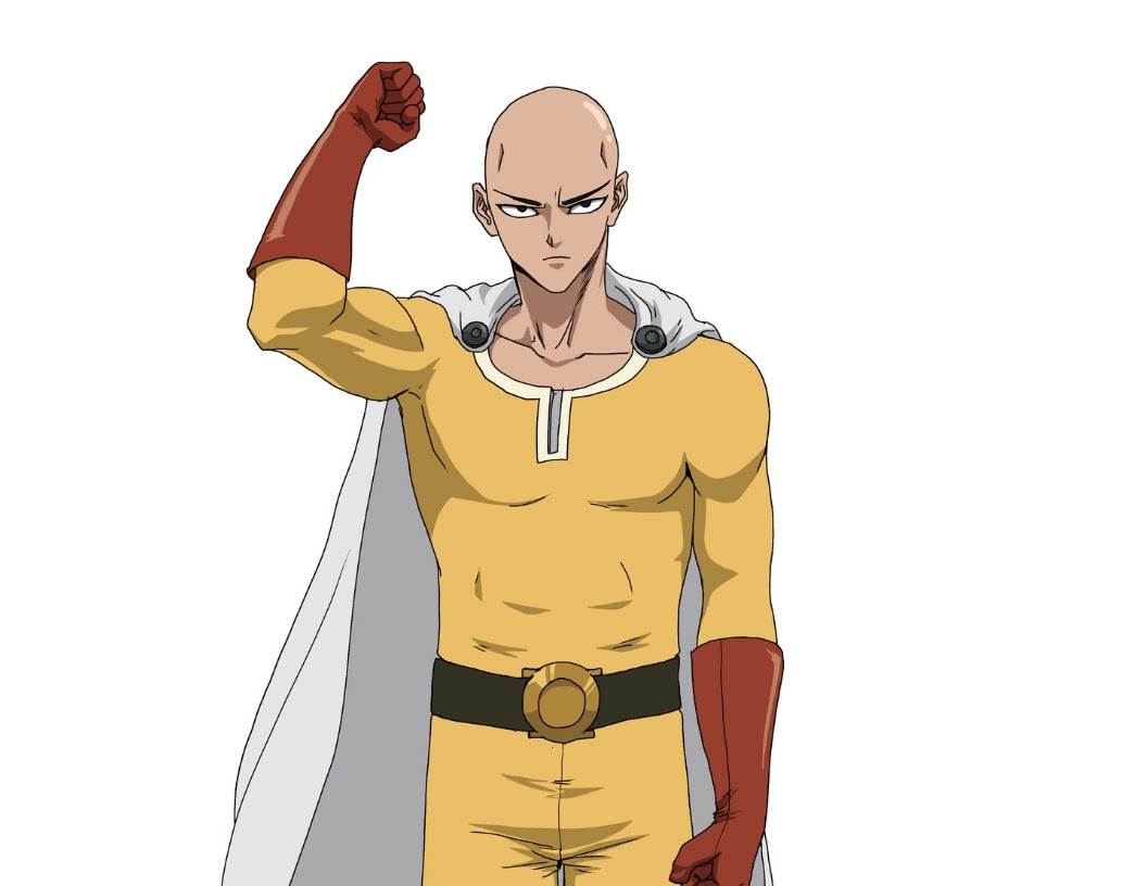 Learn To Draw Saitama From One Punch Man In 7 Easy Steps Improveyourdrawings Com