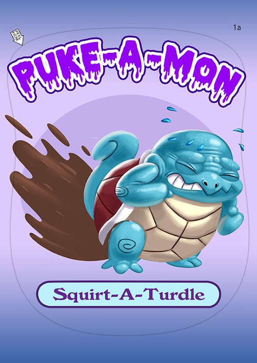 Puke-A-Mon: Squirt-a-turdle by Cryptidzoo on Etsy