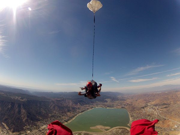 Free falling above Lake Elsinore, CA, on October 4, 2014.
