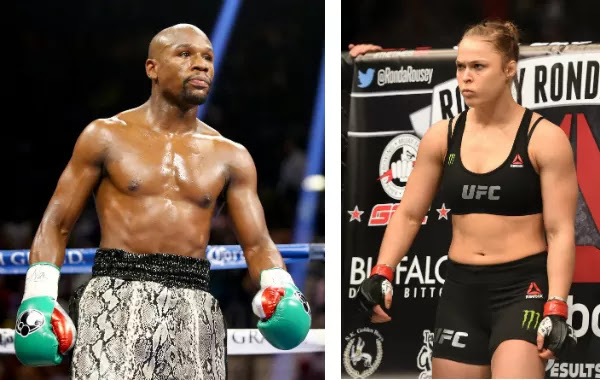 Os lutadores Floyd Mayweather e Ronda Rousey  (Foto: Getty Images)