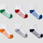 Boys' 6pk Athletic Anke Socks - Cat & Jack White