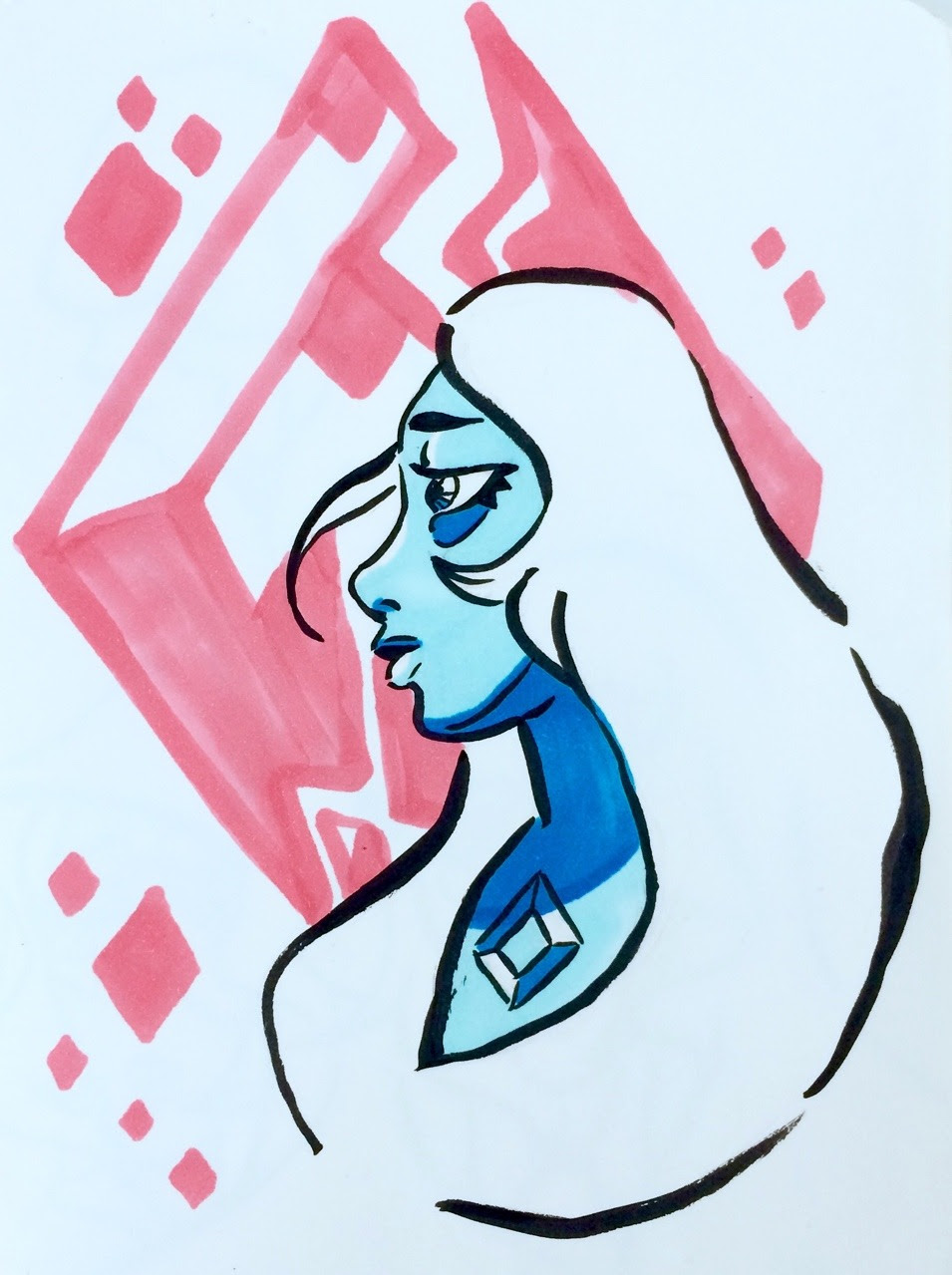 No offense but blue diamond is gorgeous and I can't stop drawing her 💎💙