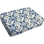 Rainford II Indigo Ikat Indoor/ Outdoor 18 x 29 Inch Corded Floor Cushion