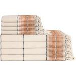 Amber Linen Turkish Towel Bundle, Tobacco
