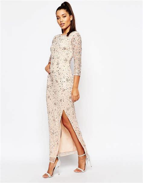 River Island Long Sleeve Embellished Maxi Dress