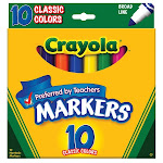 Crayola Llc 10 Count Classic Color Broad Line Markers 58-7722