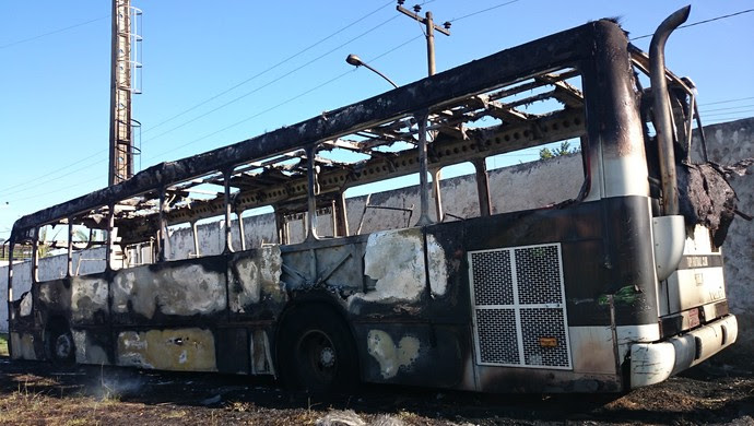 incêndio ônibus Tupi-MG Juiz de Fora (Foto: Bruno Ribeiro)