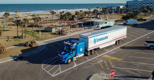 Embark Trucks self-driving truck drives Los Angeles to Jacksonville