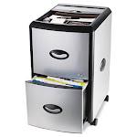 Stx 61352U01C Mobile Filing Cabinet With Metal Siding 19w x 15d x 23h Black/Silver