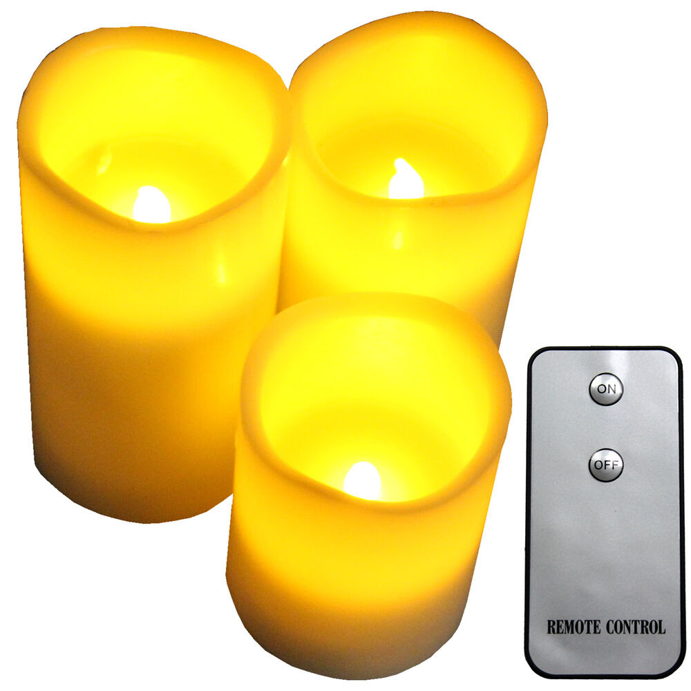 Flameless Battery Operated LED Candles with Remote Control ...