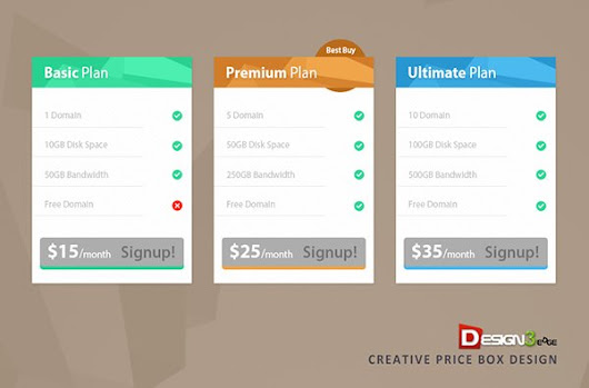 Creative Price Box Design | Design3edge