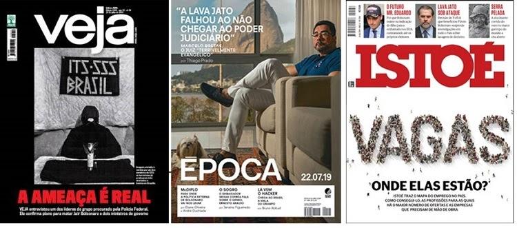 Capas das principais revistas da Semana