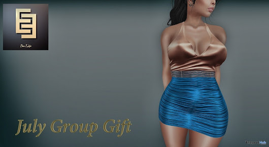 Florentine Iris Dress July 2018 Group Gift by Elven Elder | Teleport Hub - Second Life Freebies