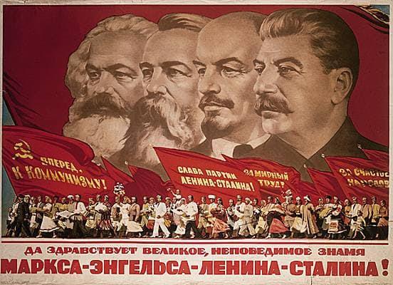 Marx, Engels, Lénine et Staline
