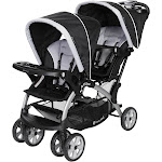 Baby Trend Sit N' Stand Easy Fold Travel Toddler & Baby Double Stroller, Stormy by VM Express