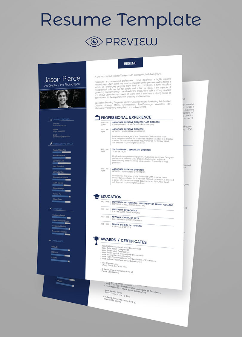 Resume Design Cover Letter Templates Icons 5 4