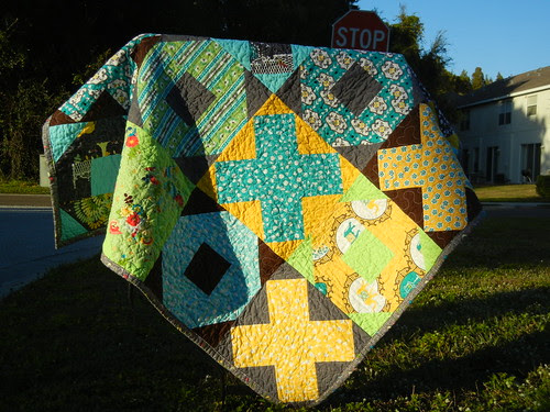 Sunset on the X and O quilt