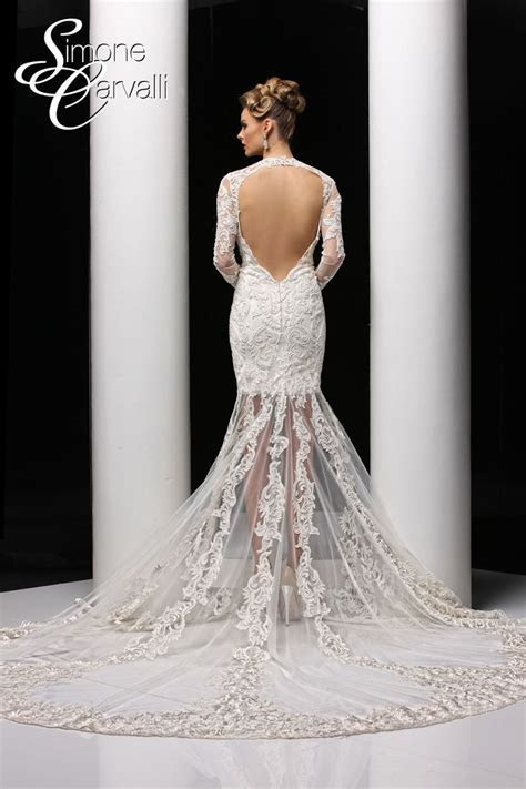 Simone Carvalli wedding dress   battenburg lace wedding
