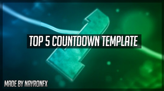 top 5 countdown intro template show me your activity