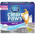 Fresh Step 31886 Clean Paws Multi Cat Litter, 18 Lbs