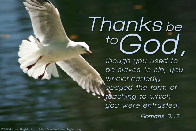 Inspirational illustration of Romans 6:17