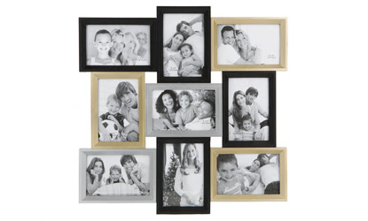 9 Picture Multi Aperture Wall Photo Frame 6x4