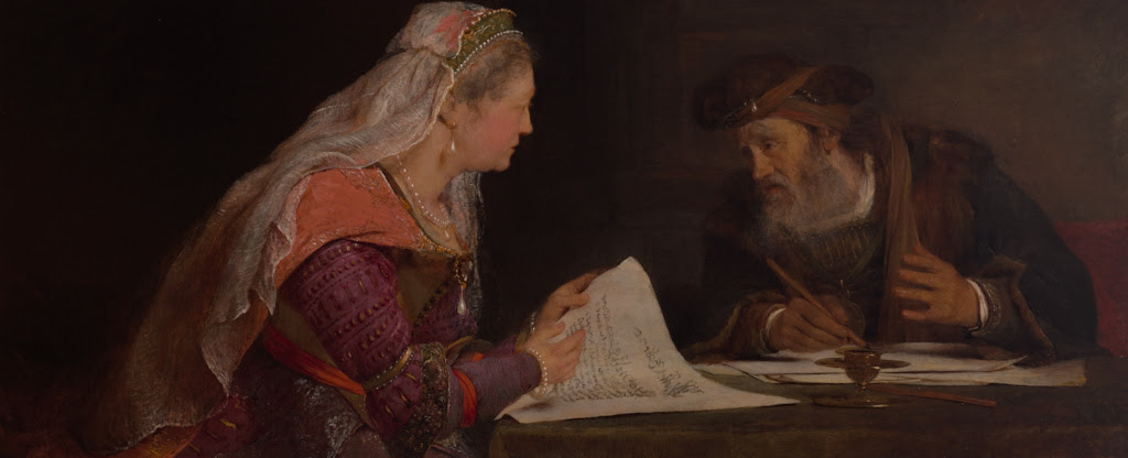 Arent de Gelder: Esther and Mordecai Writing the Second Letter of Purim
