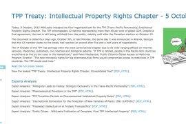 El documento del TPP en la página de Wikileaks.